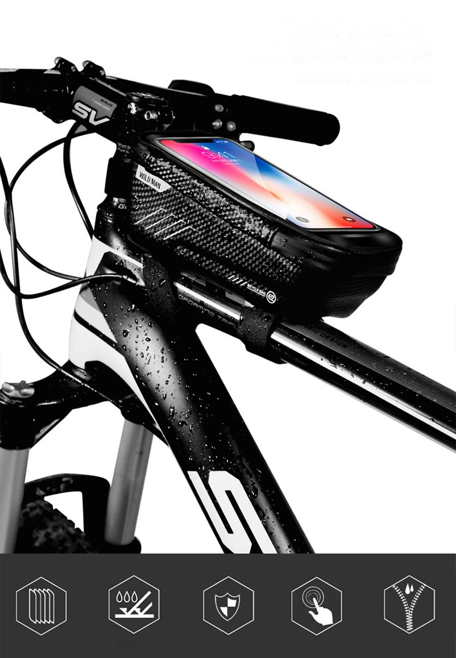 Rainproof Bicycle Bag with Phone Case